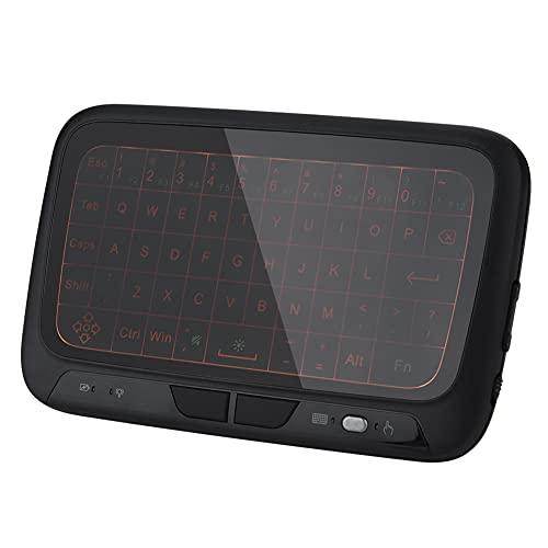 Mini Teclado inalámbrico 2.4G, Control Remoto con Teclado retroiluminado, Integra un Control Remoto Inteligente multifunción, para PC, Tableta, HTPC, IPTV, Internet TV, Smart TV, Plug and Play