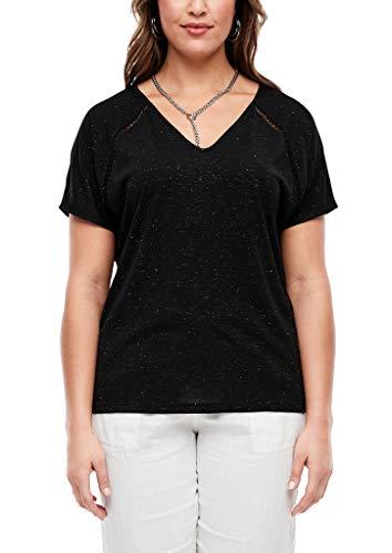 TRIANGLE Damen T-Shirt mit Glitzer-Effekt black 46