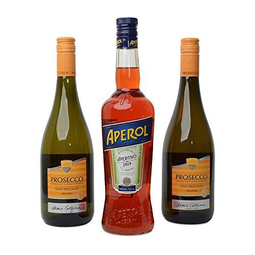 1x Aperol Spritz (0,7l) 11% vol + 2 Flaschen Vino Frizzante Prosecco (0,75L) 10,5% Aperitif