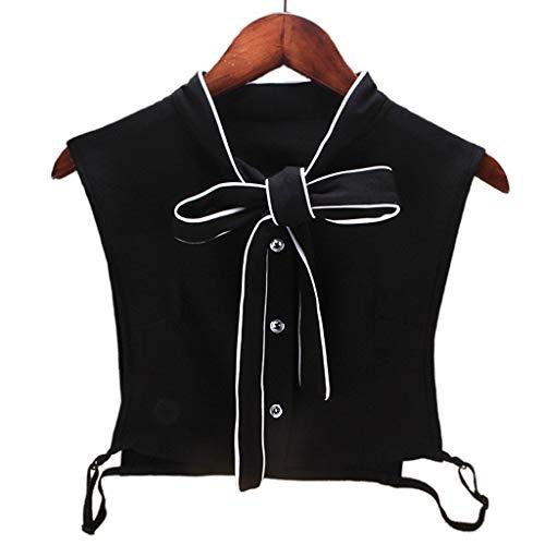 Tandou Elegant Bogen Damen Blusenkragen Baumwolle, Abnehmbare Krageneinsatz Für Pullover Accessoires