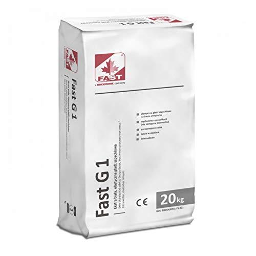 Fast G1 Extraweißer elastischer Glätt- und Füllspachtel Spachtelmasse 20 kg