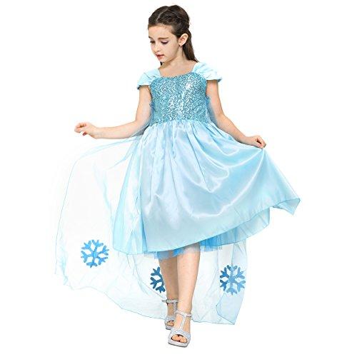 Katara- Costume Regina del Ghiaccio per Bambini, Cinderella, 6-7 anni, 0709317033670