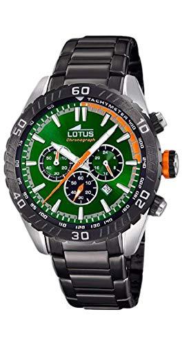 Lotus Herren Analog Quarz Uhr mit Edelstahl Armband 18678/E