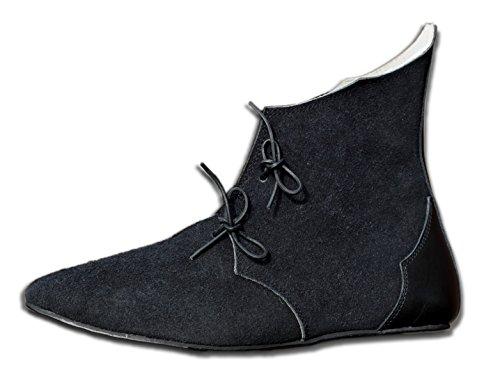CP-Schuhe Mittelalter Schuhe aus Rauhleder (41)
