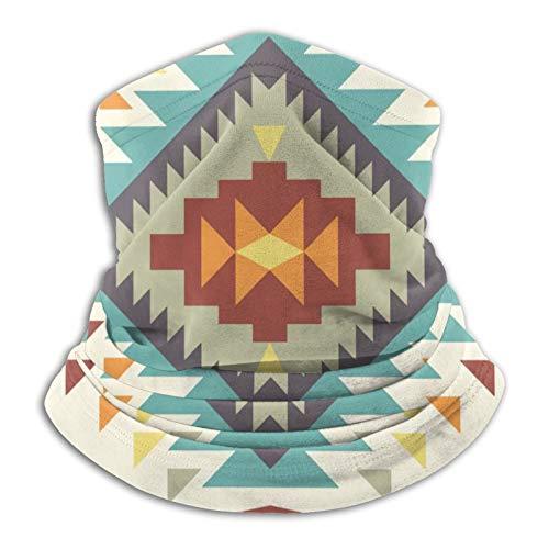 asdew987 Máscara de cuello con patrón abstracto azteca azul máscara bandana sin costuras diadema para hombres mujeres sol protección contra el viento y el polvo