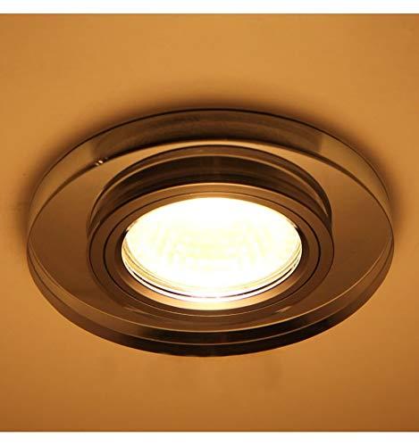 KOSILUM - Spot verre encastrable rond design - Lexa - Lumière Blanc Chaud Eclairage Salon Chambre Cuisine Couloir - 1 x 50W - - GU10 - IP20