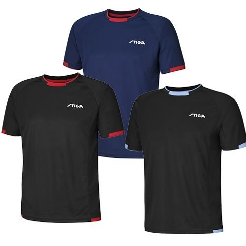 Stiga T-Shirt Capture, 2XL, navy/rot