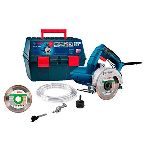 Serra Mármore a úmido Bosch GDC 151 TITAN 1500W 220V, com Kit de refrigeração, 1 Discos em Maleta