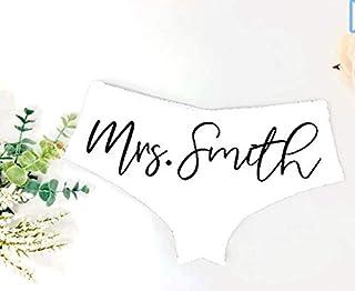 Custom Bride Panties Bridal Shower Gift Bachelorette Party Underwear New Mrs Wedding Gift