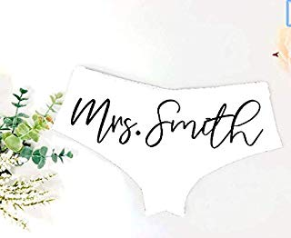 Custom Bride Panties Bridal Shower Gift Bachelorette Party Underwear New Mrs Wedding Gift