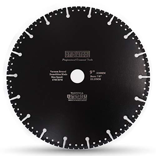 DT-DIATOOL Diamant-Trennscheiben 230 x 22,23 mm Mehrzweck Sägeblatt für Stahlbeton Metall Alu Bewehrung Eisen PVC Alle harten Materialien
