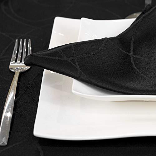BGEUROPE Colore nero – Tovaglia Antistain Trattamento – Grande – Rif: Linee, Nero, 12 Napkins 18 x 18 (45 x 45 cm)