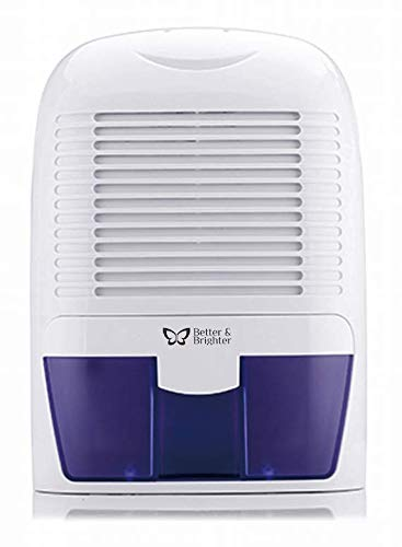 Better & Brighter Homecare BBH ABS plastic Powerful Mid-Size Thermo-Electric Dehumidifier - Quietly Gathers up to 500 ml of Water per Day(White)