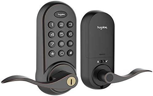 Hugolog Latchbolt Lock Electronic Keyless Entry Door Lock Keypad Door Lock with Handle Easy product image