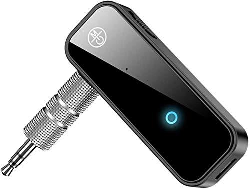 Receptor Bluetooth Audio, Jack 3,5 mm Adaptador de Audio Música Mini Portátil Bluetooth Receiver con Micrófono Soporte Llamadas Manos Libres, HiFi Música para Home Audio y Coche