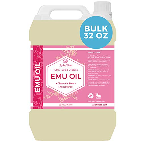 Emu Oil by Leven Rose 100% Pure Natural Bulk 32 oz