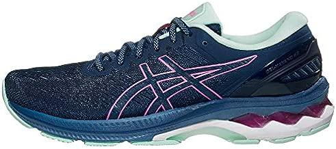 ASICS Women's Gel-Kayano 27 Running Shoes, 7.5, MAKO Blue/HOT Pink