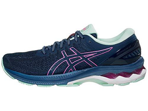 ASICS Women's Gel-Kayano 27 Running Shoes, 7.5M, MAKO Blue/HOT Pink