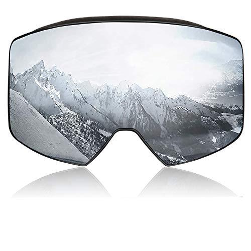 PHZ. Gafas de esquí para snowboard con protección UV 400 y antivaho para hombres y mujeres jóvenes