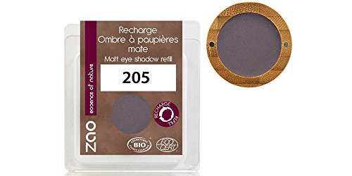 ZAO REFILL Matt Eyeshadow 205 dunkel-lila Lidschatten-Nachfüller matt mit Glimmer (bio, Ecocert,...