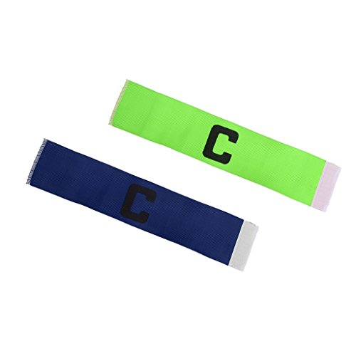 Homyl 2 Pedazos de Brazalete Accesorio de Deportes de Baloncesto de Proteccion Elasticó Ligero Azul+Verde