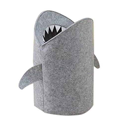 332PageAnn Spielzeugkiste Wäschekorb Filz aufbewahrungsbox -Wasserdicht Waschbar - Shark Wäschesack Mit Henkel Aus Leinen Haushalt