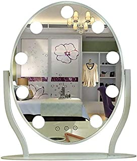 Daily Necessities Hollywood Vanity Mirror with LED Lights Kit and Touch Control for Makeup Dressing Table - Illuminated Mirror with 9 Dimmable LED Light Bulbs (White)