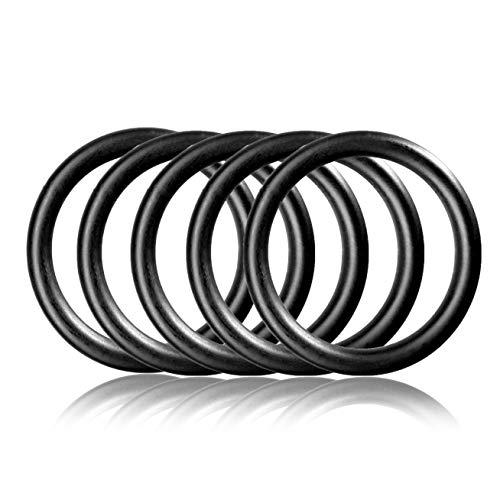 Ganzoo O - Ring aus Stahl L, 5er Set, DIY Hunde-Leine/Hunde-Halsband, nichtrostend, Ideal mit Paracord 550, geschweißt, Farbe: schwarz matt