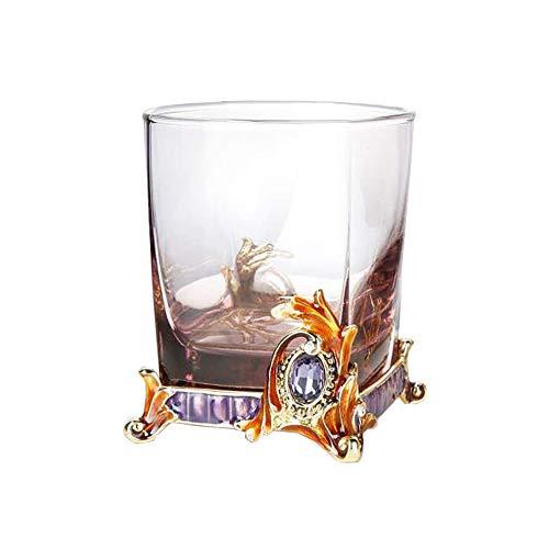 Evecase - Set di smalti con strass per whisky, bicchiere da liquore, ideale come regalo per uomini, donne, padri e madri, compleanno (confezione da 1)