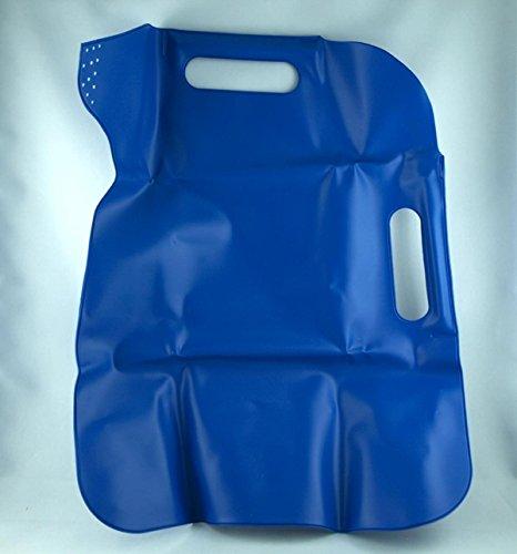 Shophaus24 Faltbare Gießkanne in blau aus Weich-PVC (0,30mm stark) mit verstärkten Griffen. 1 Stück
