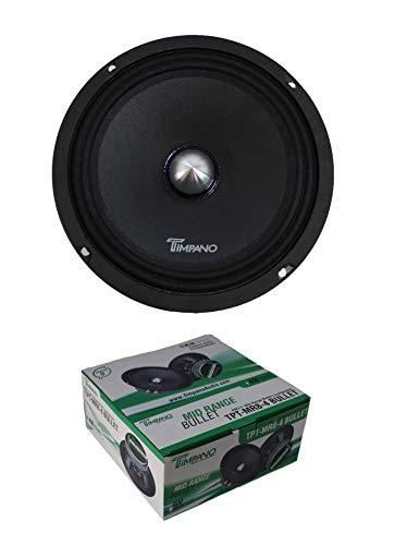 Review Of Timpano 400 Watt 8″ Mid Range Bullet Loudspeaker Pro Car Audio MR8-4 Bullet