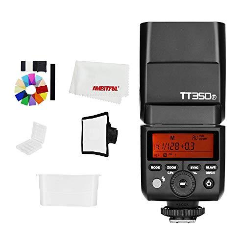 Godox TT350F 2.4G TTL cámara inalámbrica estroboscópica Flash Mini Speedlite para cámara Fujifilm Flash HSS GN36 alta velocidad 1/8000S para cámara Fuji (TT350F)