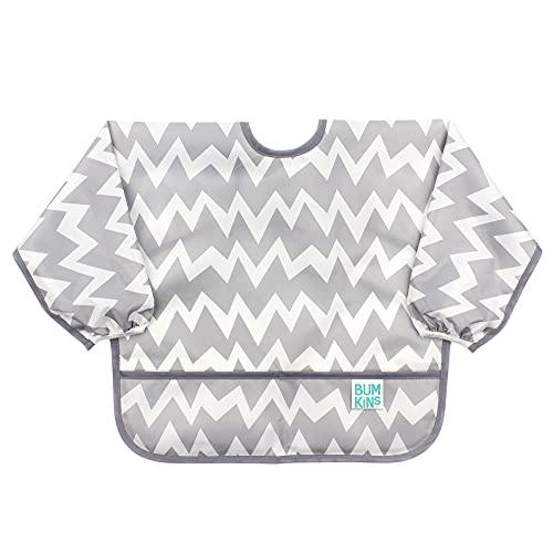 Product Image of the Bumkins Sleeved Bib / Baby Bib / Toddler Bib / Smock, Waterproof, Washable,...