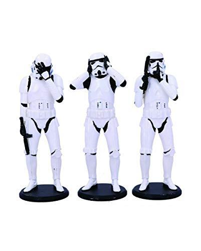 Horror-Shop 3er Pack Three Wise Stormtrooper Figuren