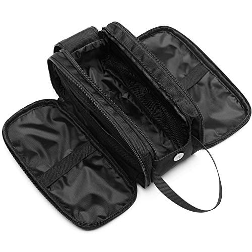 Toiletry Bag for Men, Cambond Shaving Dopp Kit Large Cosmetic Makeup Bag Toiletry Travel Bag Water Resistant with Hanging Strap, Wide Opening for Easy Access (Black)