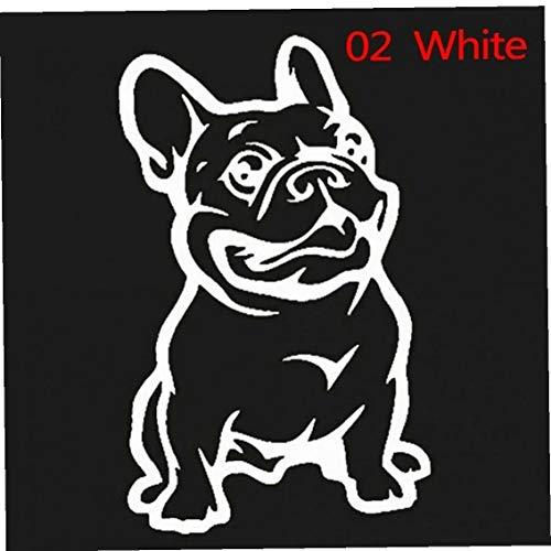 BYFRI Strong Adhesive 3d Stickers Frans Hond Auto Sticker Vinyl Cars Decal Aangepaste Venster Deur Muursticker Wit