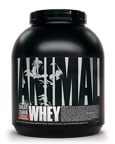 Animal Whey Isolate Whey Protein Powder – Isolate Loaded for Post Workout and Recovery – Low Sugar with Highly Digestible Whey Isolate Protein - Frosted Cinnamon Bun- 2 Pounds