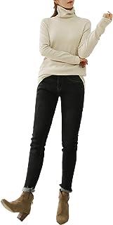 DAILY NJ【wt19】【ノーブランド品】Tシャツ タートルネック 秋冬 暖かい 大人可愛い 長袖 伸縮性 インナー カジュアル ワォーム 肌触り抜群 韓国ファッション