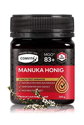 Comvita Manuka Honig 83+ MGO (UMF™ 5+) – 250g Manuka-Honig – Das Original aus Neusseland – Mit zertifizierten Methylglyoxal Gehalt