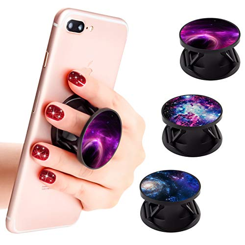3 Pack New Version Phone Holder Galaxy Nebula Grip Stand Finger Holder for Smartphone and Tablets