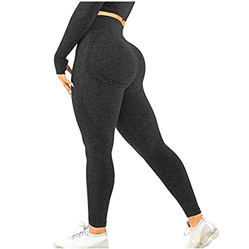 Leggins Push Up Mujer Cintura Alta Deportivos Pantalon Mallas Fitness Elásticos Mallas Moda Pantalones Color sólido Largos Pantalones Secado rapido Gym Yoga Slim Fit Pants