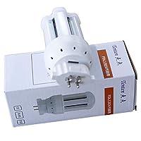 FDL13EX-L FDL13形 新型LEDコンパクト形蛍光灯 170lm/W 6w消費電力 電球色3000K 1020lm 高出力GX10q口金 【電磁波、ノイズ対策対応】省ネー、エコ、アルミ合金 放熱対策ある、耐久性良い、明るさが上がる のLED蛍光灯ダウンライト LED電球 広角360度発光 JP-FDL13EX (FDL13EXのLED化)