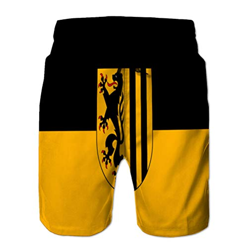 Men's Quick-Dry Swim Trunks Board Beach Shorts Flag of Dresden in Saxony in Germ