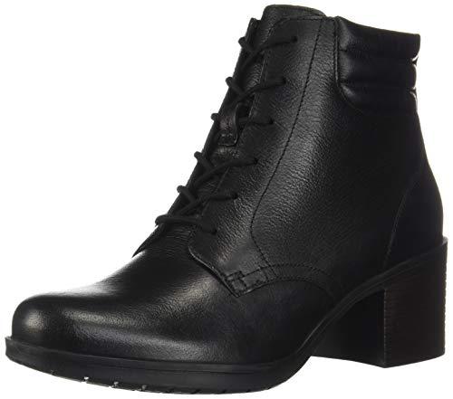 Clarks womens Hollis Jasmine Fashion Boot, Black Leather, 11 US