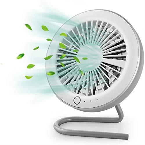 PEARFALL mini ventilador Escritorio Portátil Carga USB 3 velocidades Doblar para silenciar Ventilador magnético Se puede utilizar para viajes de oficina en casa. (blanco)