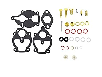 Lelecar Carburetor Rebuild Kit with 3 Different Bowl Cover Gasket for Carb Ford 2N 8N 9N IH Farmall 100 130 140 200 230 240 330 404 A AV B BN C Super A Super C Cub Lo-Boy 184 Cub Lo-Boy 185