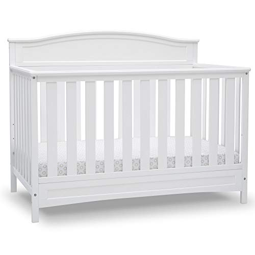 Delta Children Emery Deluxe 6-in-1 Convertible Crib, Bianca White
