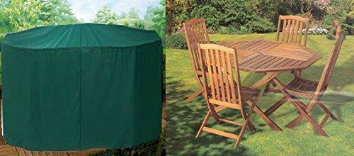 HBCOLLECTION Housse Premium pour Salon de Jardin (Tables et chaises) Rond 160cm Polyester Haut de Gamme