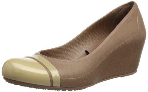 Crocs Damen Cap Toe Wedge Pumps, Multicolore (Bronze/Gold), 33,5