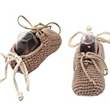 Crochet Baby Booties Unisex Baby Shoes Baby Girl Shoes Baby Boy shoes Knitted Baby Shoes Handmade Infant Booties Gift for New Born Baby Shower Annoucement 3-6Months